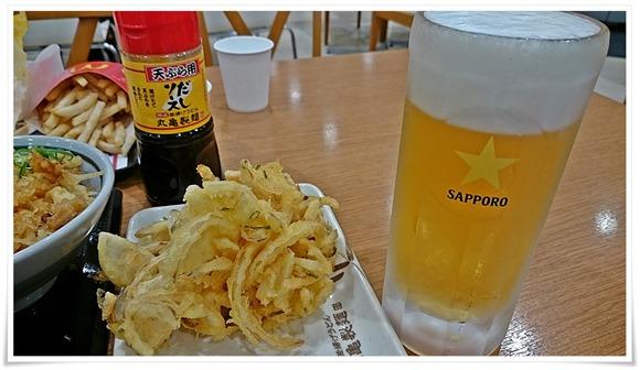 生ビール+天婦羅で乾杯@丸亀製麺