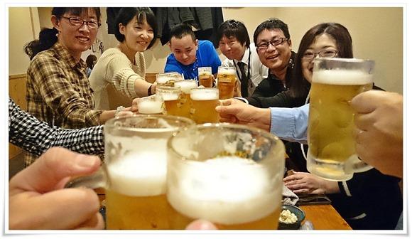 生ビールで乾杯@炭火焼 玄(げん)