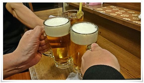 生ビールで乾杯@隠れ家ダイニングTOMMY