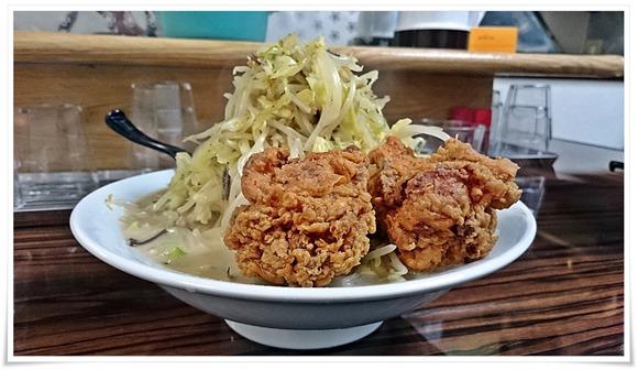 唐揚げちゃんぽん+野菜大盛@ゴールドラッシュ