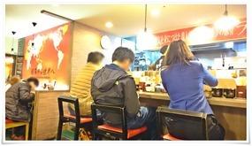 カウンター席左側@博多一幸舎デイトス店
