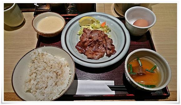 牛タン朝定食+とろろセット@たんやHAKATA
