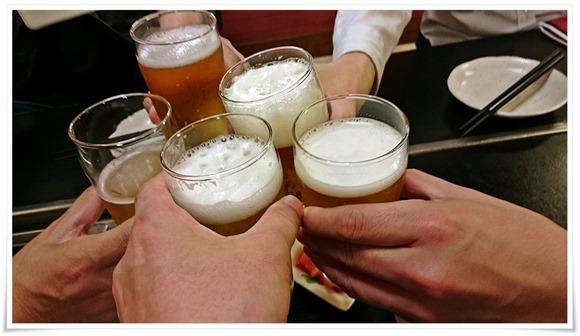 100円ビールで乾杯@白頭山 駅前店