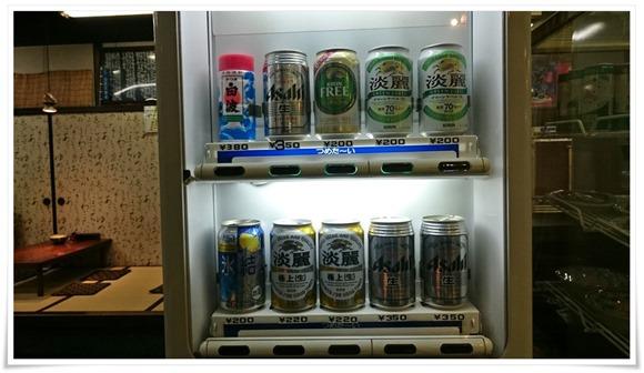 ビールは自販機で@かかしうどん本店