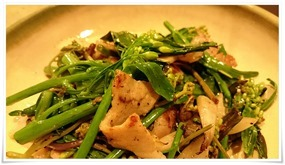 塩漬け豚と春野菜のソテー@けやきや