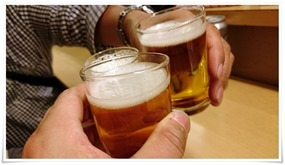 缶ビールで乾杯@王道庵(おうどうあん)