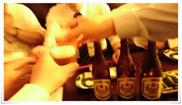 赤星で乾杯!@酔小(すいしょう)