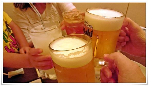 まずは乾杯!@炭火焼鳥 長洲