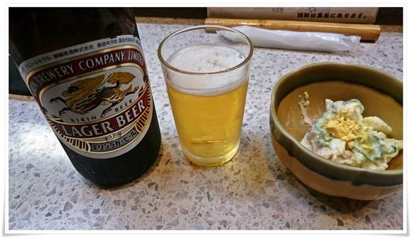 瓶ビールで乾杯@立飲み居酒屋つる八