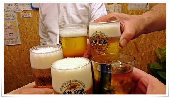生ビールで乾杯@焼き鳥 鯉家(ケイヤ)