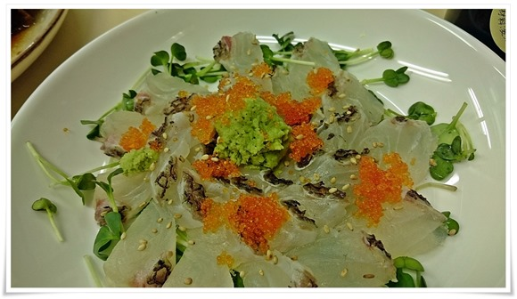 鯛のお刺身@こずえ食堂
