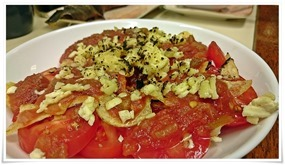 トマトチーズ焼き@こずえ食堂