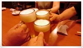 生ビールで乾杯@隠れ家ダイニング TOMMY