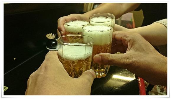 瓶ビールで乾杯@食事処ゆたか