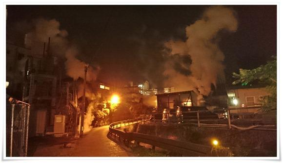 湯煙が素敵でした@鉄輪温泉