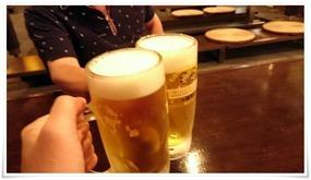 生ビールで乾杯@地熱観光ラボ縁間(エンマ)