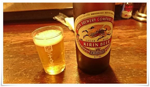 瓶ビールで乾杯@二十八萬石(通常:にっぱち)