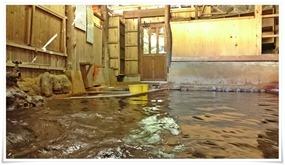 穴湯湯船から入口方面@黒川温泉