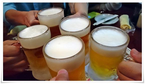 生ビールで乾杯@良食好酒良笑処 桑田家