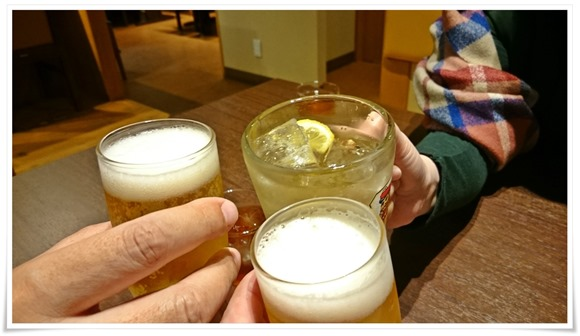 まずは乾杯!@豚カツと和食 のぶたけ