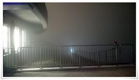 濃霧で下界が見えない@星空ビアガーデン