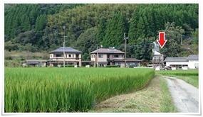 田んぼ道のさらに先@やまと旅館