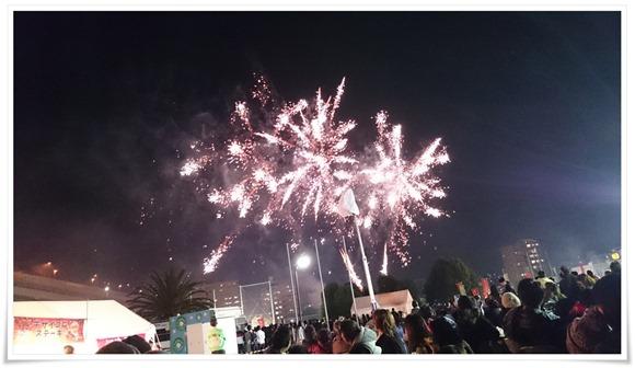 フィナーレの花火@まつり起業祭八幡2016
