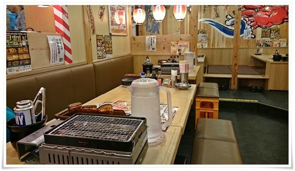 今回利用したテーブル席@目利きの銀次