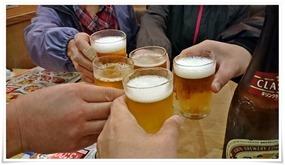 瓶ビールで乾杯@目利きの銀次