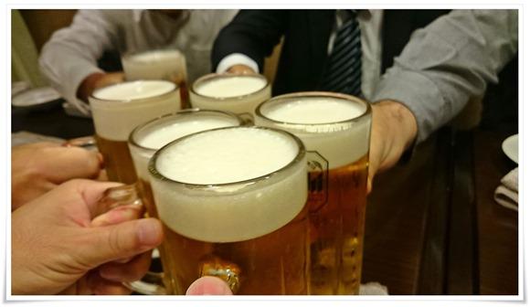 生ビールで乾杯@炭火焼肉 八輪(はちりん)