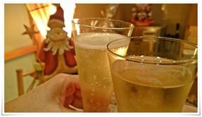 シャンパンで乾杯@おでん乃まるけん