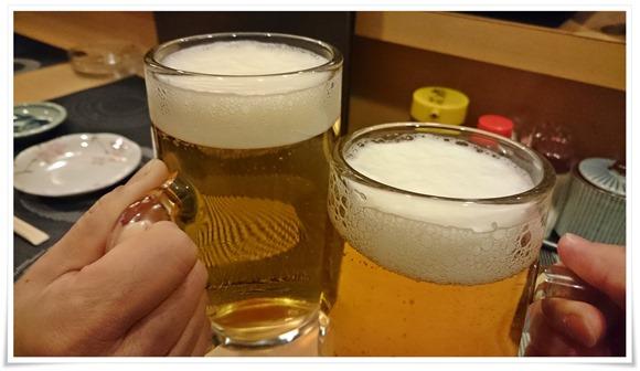 生ビールで乾杯@寿司居酒屋 桜月(おうげつ)