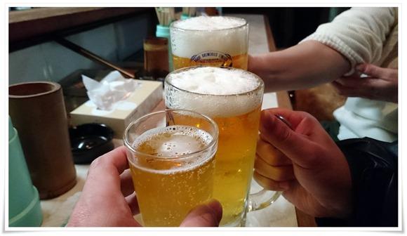ビールで乾杯@焼とり まゆみ