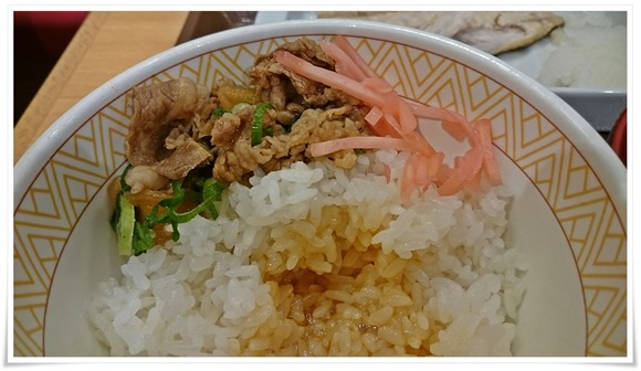 牛丼に変身@すき家 小倉北西港店