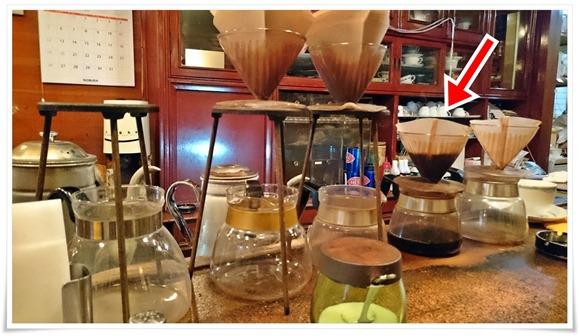 目の前でコーヒーを@喫茶かわい