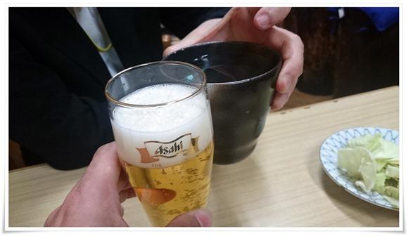 瓶ビールで乾杯@やきとり王将
