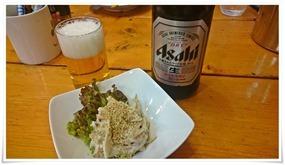 瓶ビール+お通し@一貫(イッカン)