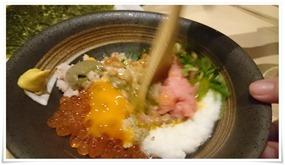 豪快納豆を混ぜ混ぜ@まぐろやしのちゃん