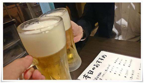 生ビールで乾杯@黒崎居酒屋 すし天や