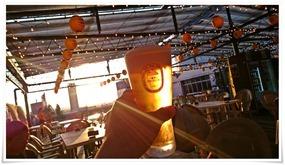 夕焼け@屋上ビアガーデン ぶどうの樹