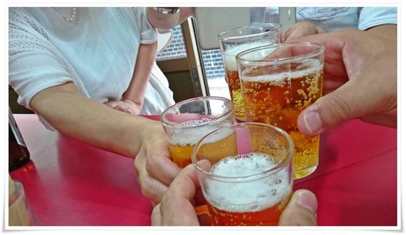 ビールで乾杯@中央軒(ちゅうおうけん)