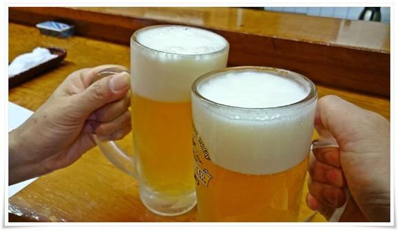 生ビールで乾杯@こつぼ