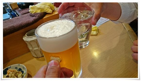 生ビールで乾杯@鳥一(とりいち)
