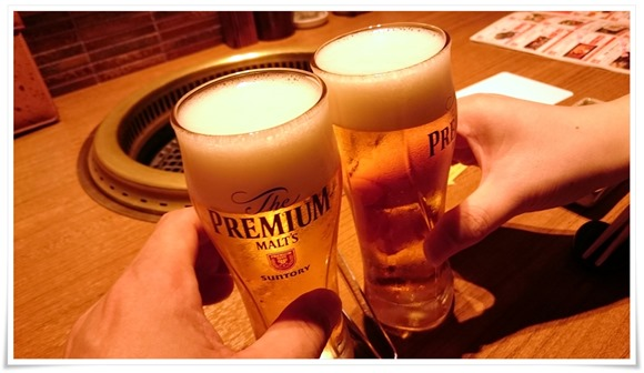 プレモルで乾杯@個室型焼肉 鞍牟(ぐらむ)