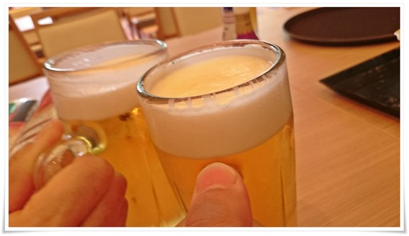 生ビールで乾杯@長崎ホテル清風