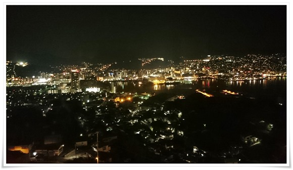 ホテルからの夜景@長崎ホテル清風