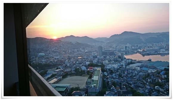 長崎ホテル清風からの日の出