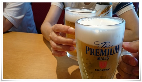 生ビールで乾杯@スシロー戸畑鞘ヶ谷店