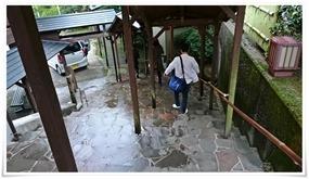 雨でも濡れません@国見温泉 あかねの郷