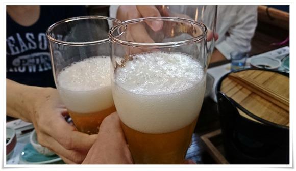 瓶ビールで乾杯@国見温泉あかねの郷